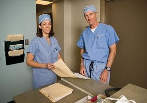 Dr. Farley and Dr. Harrington at our Annapolis Surgery Center.