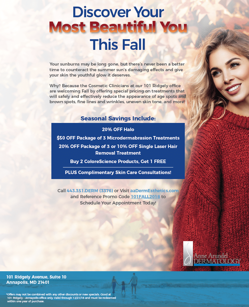 101 Ridgely - Annapolis Fall Cosmetic Specials