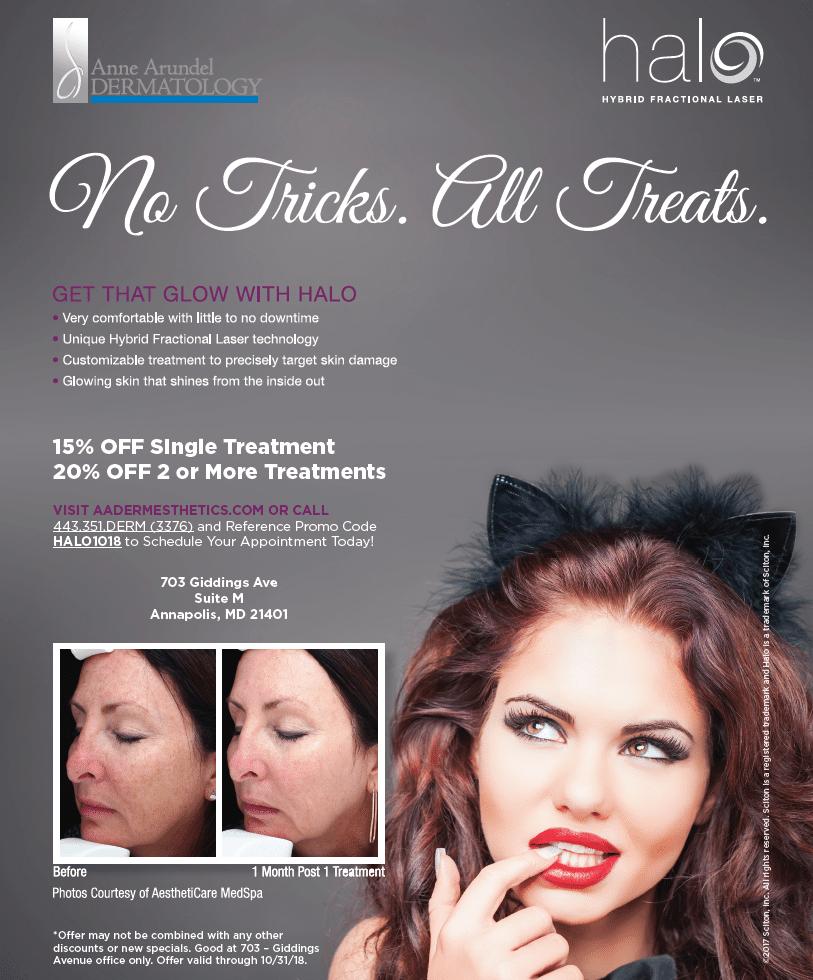 15% Off Halo Treatment at Anne Arundel Dermatology, Annapolis